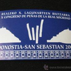 Coleccionismo deportivo: PEGATINA REAL SOCIEDAD. Lote 56496415