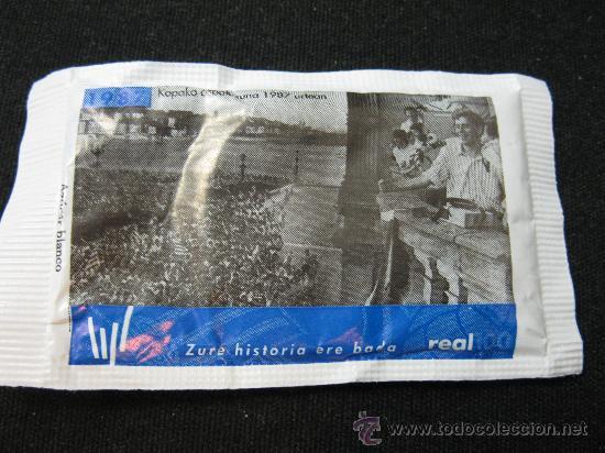 SOBRE DE AZUCAR CENTENARIO REAL SOCIEDAD - 1987 CAMPEON COPA (Coleccionismo Deportivo - Merchandising y Mascotas - Futbol)