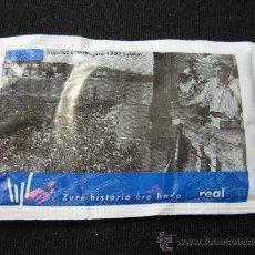 Coleccionismo deportivo: SOBRE DE AZUCAR CENTENARIO REAL SOCIEDAD - 1987 CAMPEON COPA. Lote 36473059