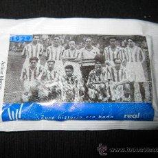 Coleccionismo deportivo: SOBRE DE AZUCAR CENTENARIO REAL SOCIEDAD 1909 EQUIPO CAMPEON DE COPA. Lote 36473221