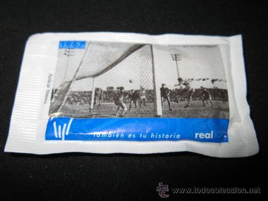 SOBRE DE AZUCAR CENTENARIO REAL SOCIEDAD 1967 - PRIMER GOL EN PUERTOLLANO (Coleccionismo Deportivo - Merchandising y Mascotas - Futbol)
