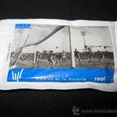 Coleccionismo deportivo: SOBRE DE AZUCAR CENTENARIO REAL SOCIEDAD 1967 - PRIMER GOL EN PUERTOLLANO. Lote 36473242