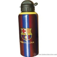 Coleccionismo deportivo: BOTELLIN ALUMINIO DEL FUTBOL CLUB BARCELONA NUEVO SIN USAR. Lote 32806923