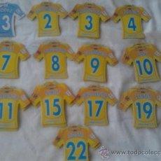 Coleccionismo deportivo: VILLAREAL 13 CAMISETAS IMAN NUEVAS 2008 2009 MEGA FUTBOL MAGNETS DIFERENTES 08 09 CROMOS. Lote 33568685