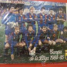 Coleccionismo deportivo: PUZZLE FUTBOL CLUB BARCELONA CAMPIO LLIGA 1984 85. MEYBA BARÇA. Lote 33628156