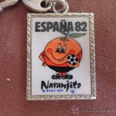 Coleccionismo deportivo: LLAVERO DEL FUTBOL MUNDIAL ESPAÑA 1982 NARANJITO MASCOTA DEL 82 VER FOTOS. Lote 33659276