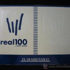 Coleccionismo deportivo: LOTE 2 PEGATINAS REAL SOCIEDAD CENTENARIO 1909-2009 AZUL Y BLANCA. Lote 54740155