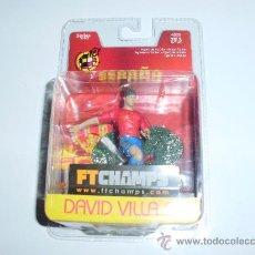 Coleccionismo deportivo: DAVID VILLA (MÁXIMO GOLEADOR EN LA HISTORIA DE LA SELECCIÓN ESPAÑOLA EN BLISTER ORIGINAL SIN ABRIR). Lote 33781380
