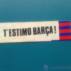 Coleccionismo deportivo: ADHESIVO PEQUEÑO PEGATINA FINALES AÑOS 80 FÚTBOL CLUB FC BARCELONA T'ESTIMO BARÇA. Lote 34549110