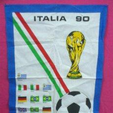 Coleccionismo deportivo: PAÑO DE COCINA MUNDIAL ITALIA 90. ORIGINAL. NUEVO.. Lote 34617058