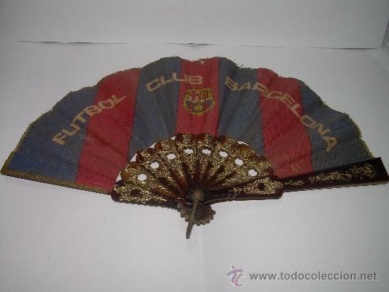 Coleccionismo deportivo: ANTIGUO Y PEQUEÑO ABANICO F.C. BARCELONA. - Foto 2 - 34937533