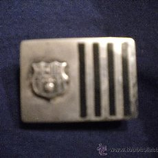 Coleccionismo deportivo: HEBILLA DE PLATA DEL FUTBOL CLUB BARCELONA 1970'S. Lote 35881380