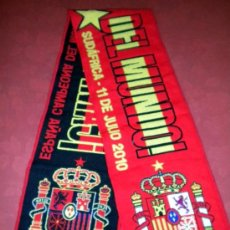 Coleccionismo deportivo: BUFANDA SCARF SCIARPE MATCH FINAL CUP WORLD FOOTBALL SOUTH AFRICA ESPAÑA SPAIN. Lote 36100425