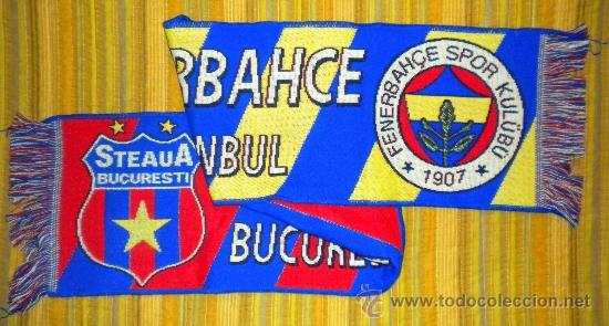 BUFANDA SCARF SCIARPE MATCH DAY UEFA EUROPA LEAGUE STEAGUA BUCARESTI FENERBACHCE (Coleccionismo Deportivo - Merchandising y Mascotas - Futbol)