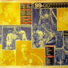 Coleccionismo deportivo: MANTEL INDIVIDUAL REAL MADRID CAMPEON COPA DE EUROPA 1999-2000 42 X 30 CM. Lote 36199897