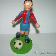 Coleccionismo deportivo: ANTIGUO JUGADOR DE MADERA........C.F. BARCELONA.. Lote 36443002