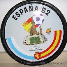 Coleccionismo deportivo: BANDEJA ANTIGUA DE CHAPA.ESPAÑA 82 -LA ROMAREDA.. Lote 36534809