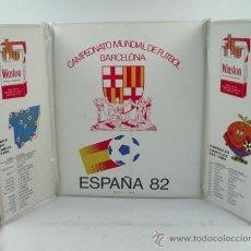 Coleccionismo deportivo: ESPAÑA, MUNDIAL 1982. PROTECTOR DE PLÁSTICO PARA EL ESTADIO, ! 63X36 CM ABIERTO.. Lote 37265123
