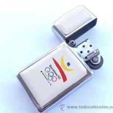 Coleccionismo deportivo: INTERESANTE ENCENDEDOR ZIPO PUBLICIDAD - JUEGOS OLIMPICOS BARNA 1992 - PANASONIC -QUARTZ. Lote 37288053