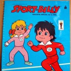 Coleccionismo deportivo: SPORT-BILLY MASCOTA OFICIAL DE LA FIFA SERIE GRAN-SPORT 2 LIBROS PARA COLOREAR NUEVO 1982 ED. ROMA. Lote 37414512
