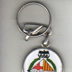 Coleccionismo deportivo: INTERESATE Y RARO LLAVERO DE FUTBOL -CLUB FUTBOL MERCAT DE SANT ANTONI - BARRIO DE BARCELONA. Lote 37529865