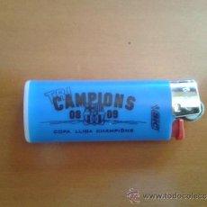 Coleccionismo deportivo: MECHERO ENCENDEDOR BIC NUEVO (FUNCIONA) BARÇA FC CF BARCELONA TRICAMPIONS COPA LIGA CHAMPIONS 08-09. Lote 54303604