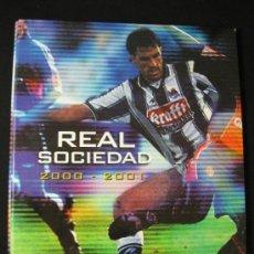 Coleccionismo deportivo: ALBUM CARPETAS FICHAS REAL SOCIEDAD 2000 2001 DIARIO VASCO. Lote 37678062