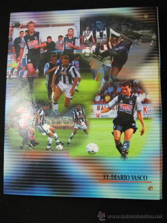 Coleccionismo deportivo: ALBUM CARPETAS FICHAS REAL SOCIEDAD 2000 2001 DIARIO VASCO - Foto 2 - 37678062
