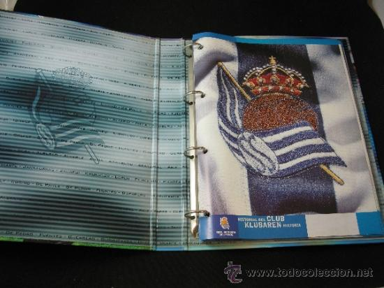 Coleccionismo deportivo: ALBUM CARPETAS FICHAS REAL SOCIEDAD 2000 2001 DIARIO VASCO - Foto 3 - 37678062