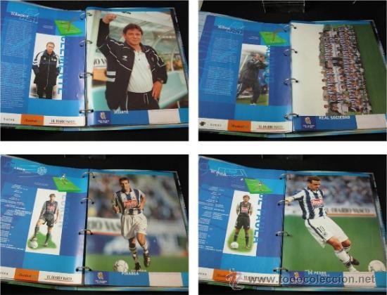 Coleccionismo deportivo: ALBUM CARPETAS FICHAS REAL SOCIEDAD 2000 2001 DIARIO VASCO - Foto 4 - 37678062