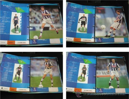 Coleccionismo deportivo: ALBUM CARPETAS FICHAS REAL SOCIEDAD 2000 2001 DIARIO VASCO - Foto 5 - 37678062