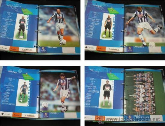 Coleccionismo deportivo: ALBUM CARPETAS FICHAS REAL SOCIEDAD 2000 2001 DIARIO VASCO - Foto 6 - 37678062