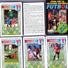 Collezionismo sportivo: BARAJA JUEGA CON LA SELECCION ESPAÑOLA SE FUTBOL ¡¡¡¡ FOURNIER¡¡¡ 1996. Lote 37857733