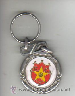 INTERESANTE Y RARO LLAVERO DE CLUB DE FUTBOL DAMM FUNDADA EN 1954 CERVEZA (Coleccionismo Deportivo - Merchandising y Mascotas - Futbol)