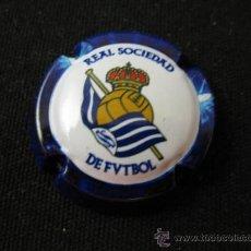 Coleccionismo deportivo: PLACA DE CAVA REAL SOCIEDAD ESCUDO. Lote 38181332