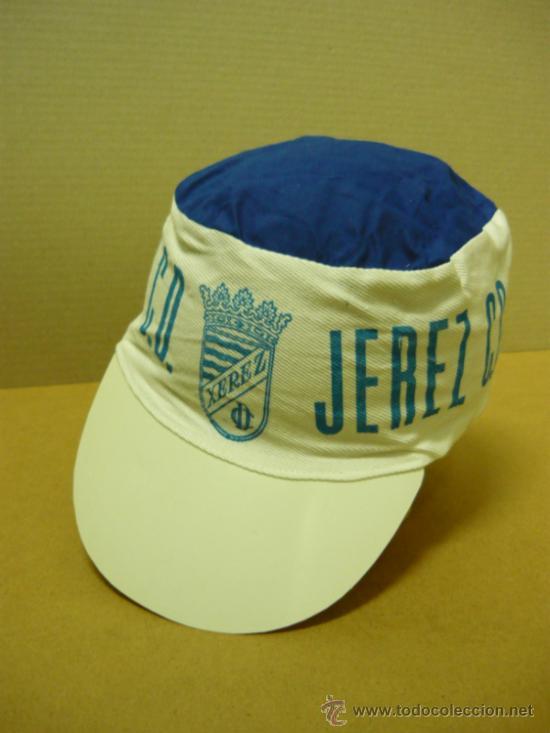 JEREZ. MUY ANTIGUA GORRA DE FUTBOL DEL JEREZ DEPORTIVO (Coleccionismo Deportivo - Merchandising y Mascotas - Futbol)