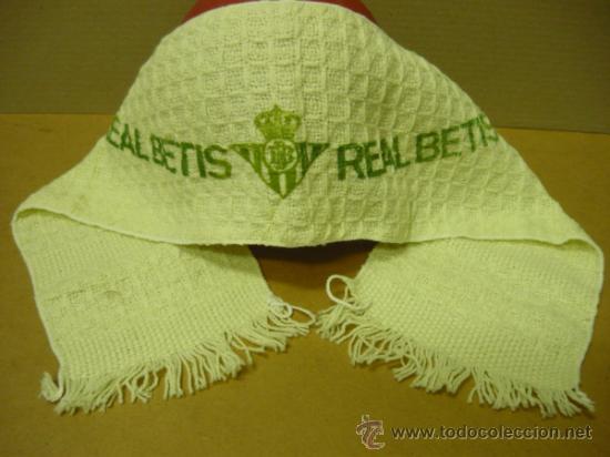 Coleccionismo deportivo: FUTBOL.R.BETIS.muy antigua,rara,y dificil de encontrar bufanda del betis. mide 96x16 cm. - Foto 2 - 38300293
