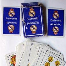 Coleccionismo deportivo: CARTAS - BARAJA FÚTBOL REAL MADRID, CAJA ESTA DETERIODADA. Lote 38366192