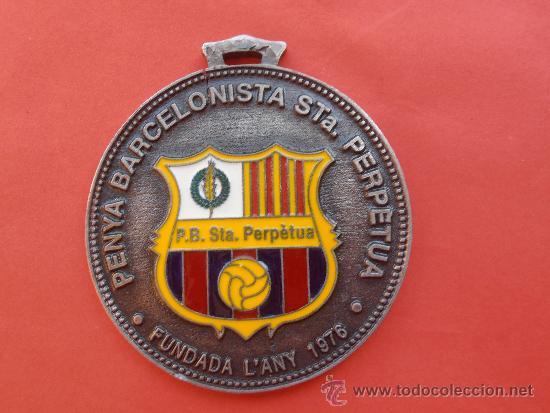 PEÑA BARCELONISTA SANTA PERPETUA (Coleccionismo Deportivo - Merchandising y Mascotas - Futbol)