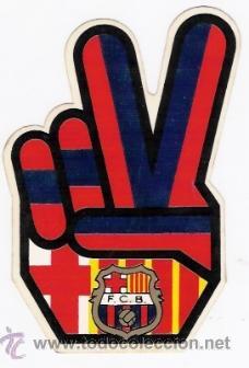 F.C.BARCELONA ADHESIVO (Coleccionismo Deportivo - Merchandising y Mascotas - Futbol)