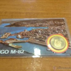 Coleccionismo deportivo: CARNET PLASTIFICADO - MUNDIAL 82 - VIGO - MONEDAS OFICIALES- CAR81. Lote 40050851