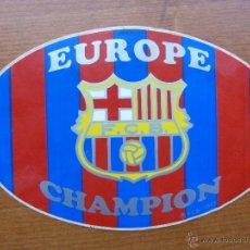 Coleccionismo deportivo: PEGATINA BARCELONA FC CAMPEONES EUROPA. Lote 40427630