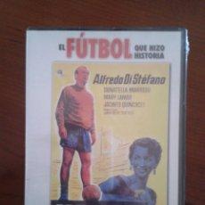Coleccionismo deportivo: DVD NUEVO PRECINTADO LA SAETA RUBIA CINE FÚTBOL DI STEFANO JUGADOR REAL MADRID RCD ESPANYOL ESPAÑOL. Lote 44451175