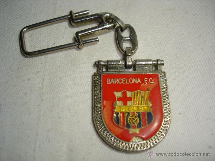 LLAVERO BARCELONA FC - REVERSO CAMP NOU (Coleccionismo Deportivo - Merchandising y Mascotas - Futbol)