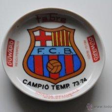 Coleccionismo deportivo: CENICERO FC BARCELONA PORCELANA CAMPIO TEMP.1973-74. Lote 41487752