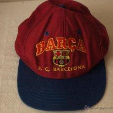 Coleccionismo deportivo: GORRA DEL FUTBOL CLUB BARCELONA BARÇA. BUEN ESTADO. LIMPIA. VER FOTOS. Lote 41616316