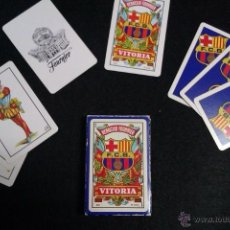 Coleccionismo deportivo: CARTAS NAIPE BARAJA FOURNIER DEL F.C BARCELONA MUY EXCLUSIVA Y ESCASA EN SU CAJA. Lote 41618202