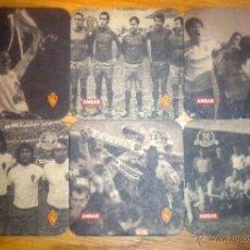 Coleccionismo deportivo: 6 POSAVASOS CARTON CERVEZA AMBAR REAL ZARAGOZA BEER CERVEZAS LA ZARAGOZANA BIRRA. Lote 183756891