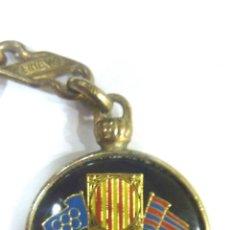 Coleccionismo deportivo: LLAVERO FUTBOL CLUB BARCELONA. ESCUDO . CAMP NOU . BARÇA BANDERAS OLIMPIADA. Lote 42160455