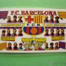 Coleccionismo deportivo: CALENDARIO FUTBOL CLUB BARCELONA 1996 CAMPIONS LIGA 95 96 VISCA EL BARÇA MES QUE UN CLUB. Lote 42181897